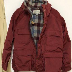LL Bean Jacket Vintage Baxter State Parka Red